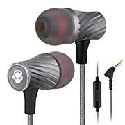 #LightningDeal MINDBEAST Super Bass 90%-Noise Isolating Earbuds with Microphone and Case-Amazing Sound Effects and Game Experience for Women, Men, Kids-Headphone Jack Compatible with Apple, Samsung, Sony, Xbox