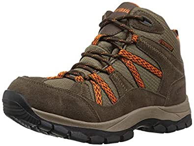Northside Unisex Freemont Waterproof Hiking Boot, bark/Orange, 1 Medium US Little Kid