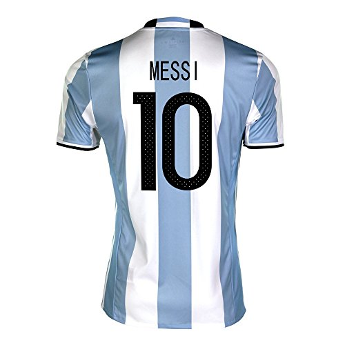 Messi #10 Argentina Home Soccer Jersey Copa America Centenario 2016 (Argentina Adult Soccer Jersey)