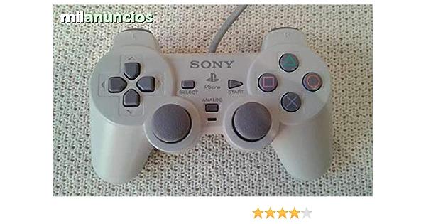 Mando pad controller Playstation PS1 PS2 PSOne PS two rojo transparente: Amazon.es: Videojuegos