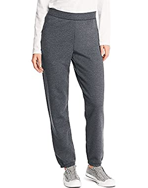Hanes ComfortSoft EcoSmart Women's Cinch Bottom Leg Sweatpant_Slate HTR_2XL