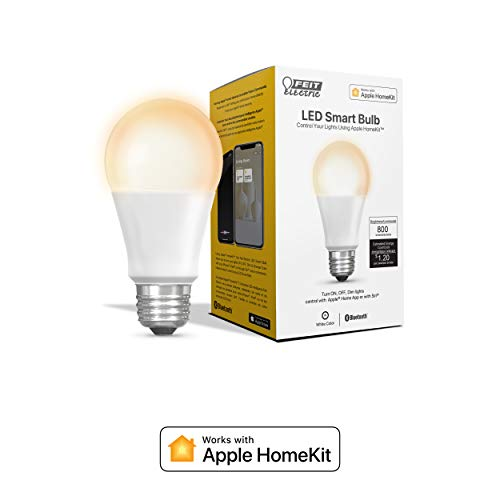 Feit Electric White Smart LED Soft 60W Equiv A19 Bulb, Works with Apple HomeKit (OM60/SW/HK)