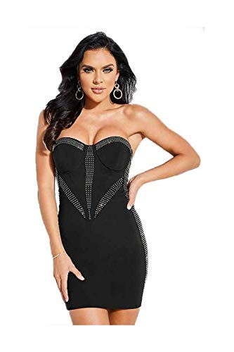Negro Mujer Vestido Para Dress Lucia Guess qxZzwR4x