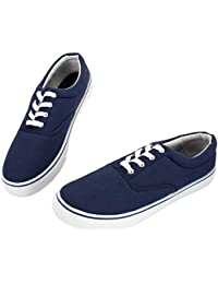 Canvas Sneakers for Men/Black/White/Navy Mens Canvas Shoes Casual Low Top Lace Up Sneakers