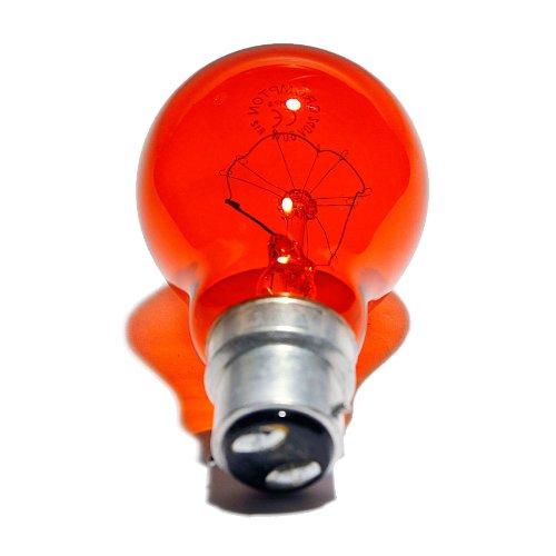 4x Fireglow 60w Bc B22 Light Bulbs Bayonet Lamps Red Flame