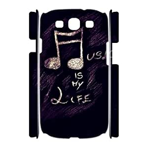 Note Personalized 3D Cover Case for Samsung Galaxy S3 I9300,custom Note Case