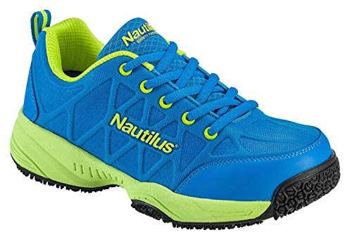 Nautilus 2154 Women's Comp Toe Light Weight Slip Resistant Safety Toe Athletic Shoe, Blue, 8.5 M US from FSI FOOTWEAR SPECIALTIES INTERNATIONAL