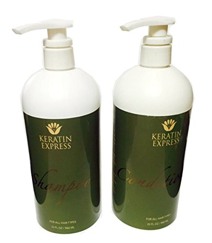 Keratin Express Sulfate Free Shampoo Ultra Hydrating Conditioner (Set of 2), 32 fl oz