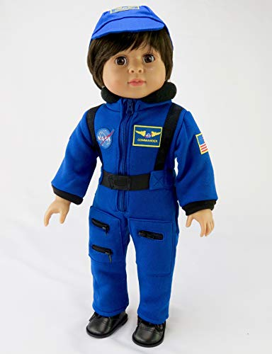 Navy Blue NASA Astronaut Suit | Fits 18 American Girl Dolls, Madame Alexander, Our Generation, etc. | 18 Inch Doll Clothes