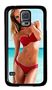 S5 Case, Galaxy S5 Case, Samsung Galaxy S5 Case - Hard PC Protective Candice Swanepoel In Victorias Secret Swimsuit 2012 Collection 6 Case Black Cover Heavy Duty Protection Shock-Absorption / Impact Resistant Slim Case for Galaxy S5 / Galaxy SV / Galaxy S V / Galaxy i9600