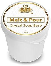 Zeep Basis van Glycerine Crystal ST 1000g - Zeep Basis Gietzeep - Eenvoudig Zepen Omsmelten - Transparant - Creatieve Zeep - Ruwe Zeep - Maak je Eigen Zeep - Gietzeep Smelten