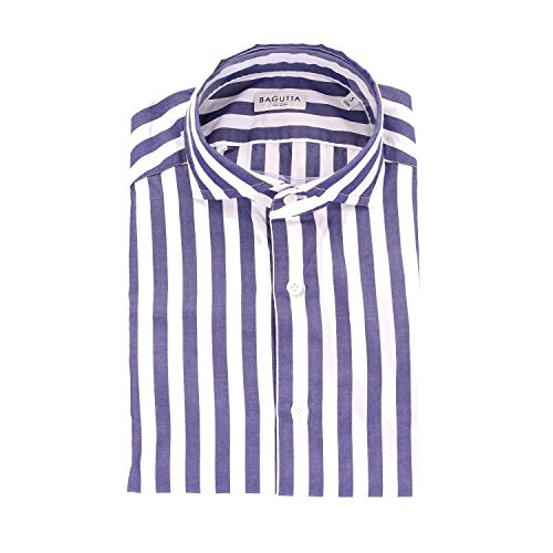 Bagutta Men's Sienab07720white White Cotton Shirt