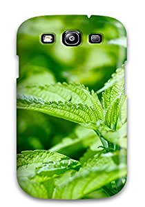 For Galaxy S3 Premium Tpu Case Cover Fresh Mint Leaves Protective Case