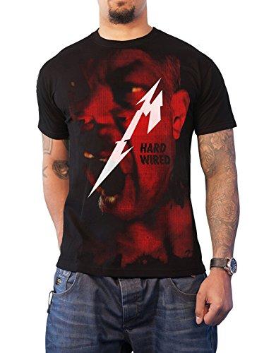 Metallica T Shirt Hardwired Jumbo Album Cover Band Logo Official Mens Black