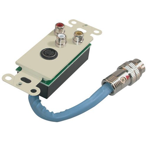 Ivory S-video - C2G/Cables to Go 40899 RapidRun SVideo and Composite Video and Stereo Audio Wall Plate (Ivory)