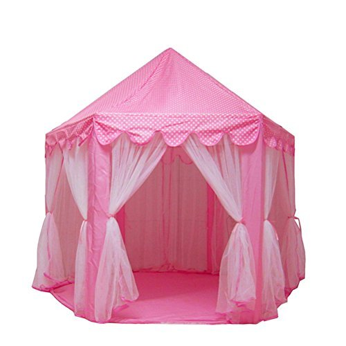 "Princess Castle Play House, Large Indoor and Outdoor Kids Play Tent for Girls Childs Toddlers Gift 55""x 53"" Kids Play Tent Image"