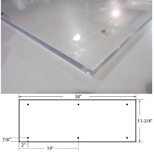 Amazon.com Acrylic Plexiglass Clear Plastic Door Kick Plate 11-3/4  x 38  Industrial u0026 Scientific  sc 1 st  Amazon.com & Amazon.com: Acrylic Plexiglass Clear Plastic Door Kick Plate 11-3/4 ...