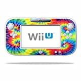 Mightyskins Protective Vinyl Skin Decal Cover for Nintendo Wii U GamePad Controller wrap sticker skins Tie Dye 2