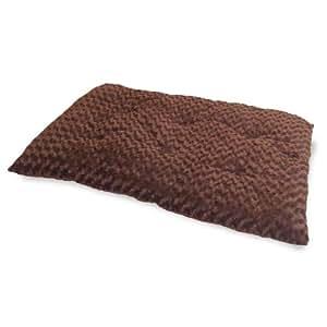 PETMAKER Lavish Cushion Pillow Furry Pet Bed, Large, Chocolate
