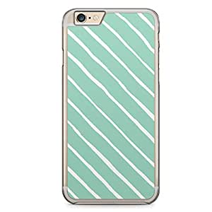 Confetti iPhone 6 Plus Transparent Edge Case - Green and White