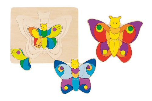Wooden Butterfly Puzzle 7″ by Goki, Baby & Kids Zone