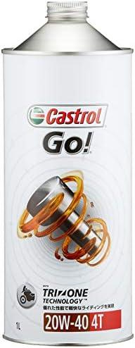 カストロール エンジンオイル Go! 4T 20W-40 1L 二輪車4サイクルエンジン用スタンダードオイル (鉱物油) MA Castrol