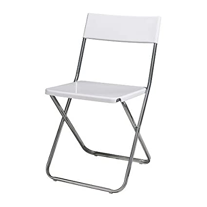 Strange Ikea Jeff Folding Chair White Amazon Co Uk Kitchen Home Lamtechconsult Wood Chair Design Ideas Lamtechconsultcom