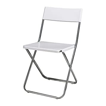 IKEA JEFF - silla plegable, blanco: Amazon.es: Hogar