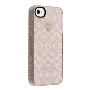 Uncommon LLC C0090-BQ Lace Garden Frosted Deflector Hard Case for iPhone 4/4S - Retail Packaging - Pink