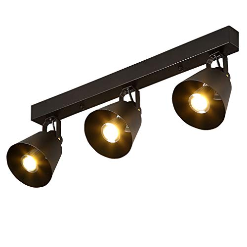 Retro Vintage Industrial Ceiling Light Creative Iron Metal Lampshade Black Antique Round Art Ceiling Lamp Rustic Aisle Spotlights Corridor Living Room Chandelier Country Style Ceiling Lighting (3)