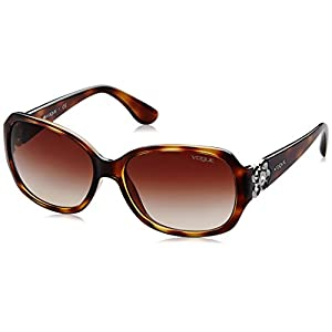 VOGUE Women's Nylon Woman 0vo2778sb Square Sunglasses, Dark Havana, 58 mm