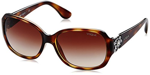 VOGUE Women's Nylon Woman 0vo2778sb Square Sunglasses, Dark Havana, 58 - Sunglasses Vogue
