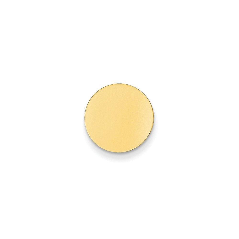 14K Yellow Gold Circle-Shaped Tie Tac