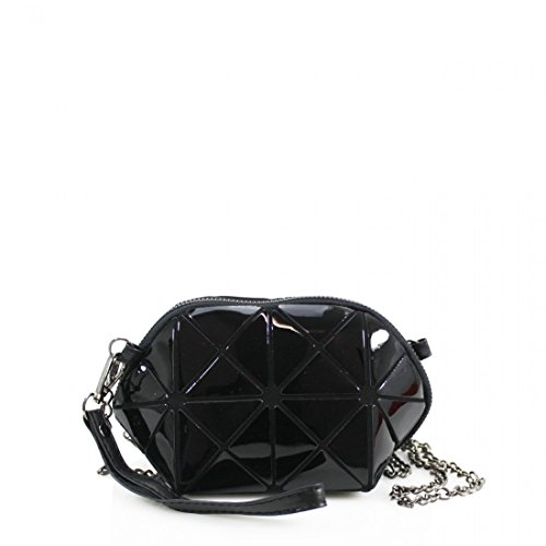 Geometric Pouch Mini Body Design Keys Phone Ladies Women Shoulder Galaxy Linen Prism Girls Black Cross Small wIHSagq