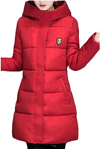 Coat Coat Red M Parka Jacket Women's Long Outwear Overcoat Down amp;W amp;S xOxqFIw6vZ