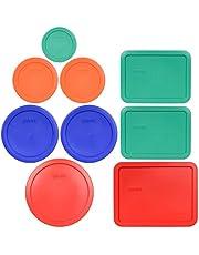 Pyrex (1) 7402-PC 6/7 Cup Red (2) 7201-PC 4 Cup Cadet Blue (2) 7200-PC 2 Cup Orange (1) 7202-PC 1 Cup Green (2) 7210-PC 3 Cup Light Green (1) 7211-PC 6 Cup Red Food Storage Lids