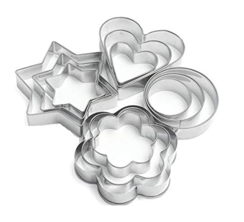 SYGA 12 Pieces Cookie Cutter Stainless Steel Cookie Cutter with Different Shape 1