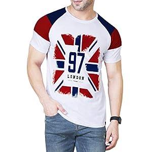 Veirdo Men's Half Sleeve Round Neck Cotton T-Shirt – White