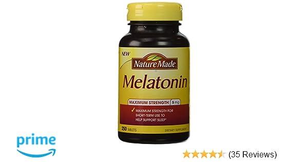 Amazon.com: Nature Made Melatonin 5 Mg, 250 Tablets: Health & Personal Care