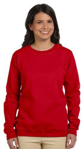 Gildan G180FL Ladies Heavy Blend Fleece Sweatshirt - Cherry Red - S