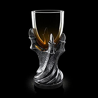 3D Dragon Claw Goblet , Personality Whiskey Resin Glass Goblet (Black)