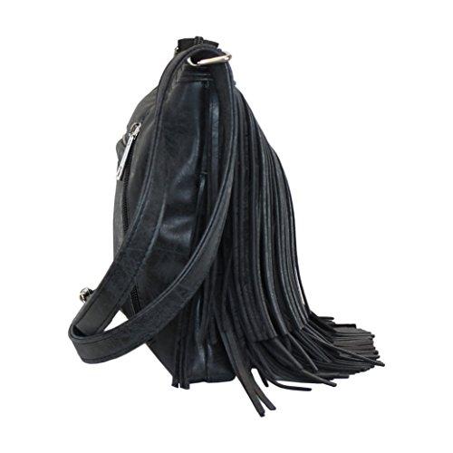 Pocket Black Gun Cute Crossbody Bag with Concealed Shoulder Carry Concealment Fringed Y6OAW