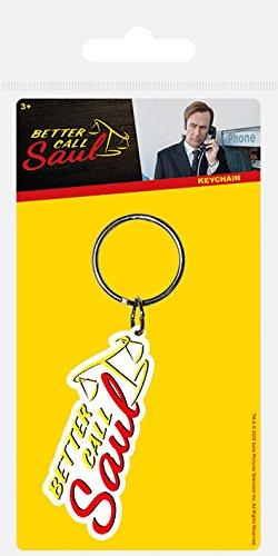Pyramid International Better Call Saul Logo Rubber Keychain, Multi-Colour, 4.5 x 6 cm RK38480C Movie & TV
