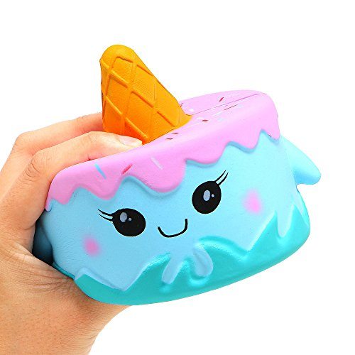 Christmas Best Toy Gift!!!Kacowpper Kawaii Cartoon Cake Slow Rising Cream Scented Stress Reliever Toy]()