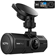 Vantrue N2 Pro Uber Dual Dash Cam Dual 1920x1080P Infrared Night Vision Front and Inside Dash Camera, 2.5K 2560x1440P Single Front, 310° Car Camera, 24hr Parking Mode, Motion Sensor, Support 256GB max