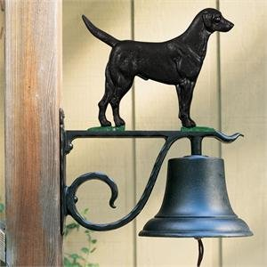 Large Country Bell With Black Lab, (Black Large Country Bell)