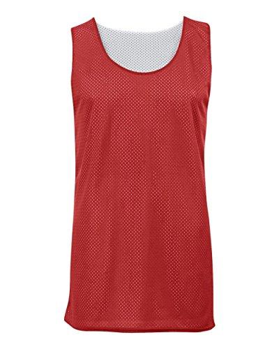 Red/White Youth Large Reversible Mesh Tank Top Jersey Uniform
