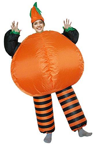 fanituhan ハロウィン かぼちゃ コスプレ 着ぐるみ コスチューム 膨らむ 仮装 大人用