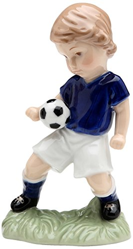 Soccer Boy Figurine - Cosmos 10512 Boy Playing with Soccer Ball Figurine, 4-3/4-Inch