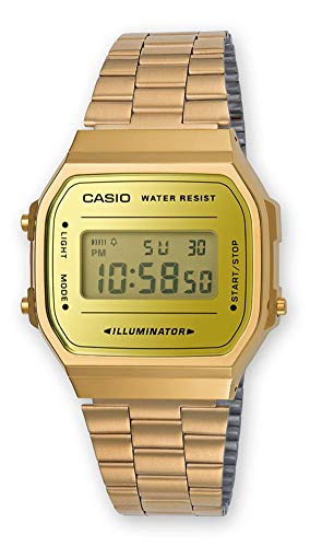 CASIO Gold Stainless Steel Watch-A168WEGM-9EF